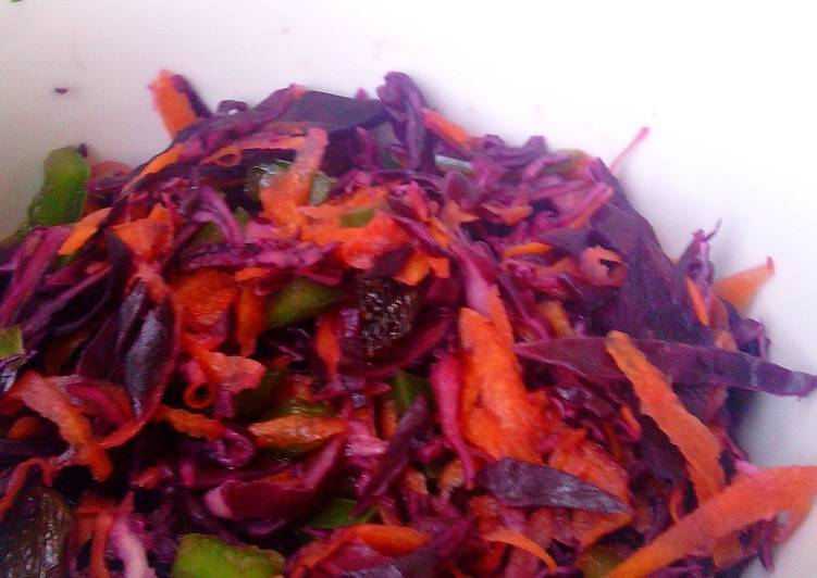 Purple Cabbage Raisins Salad