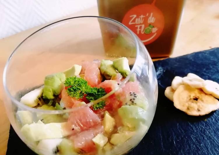 recette Salade🥝🍊🥑fraîcheur#healthy délicieux