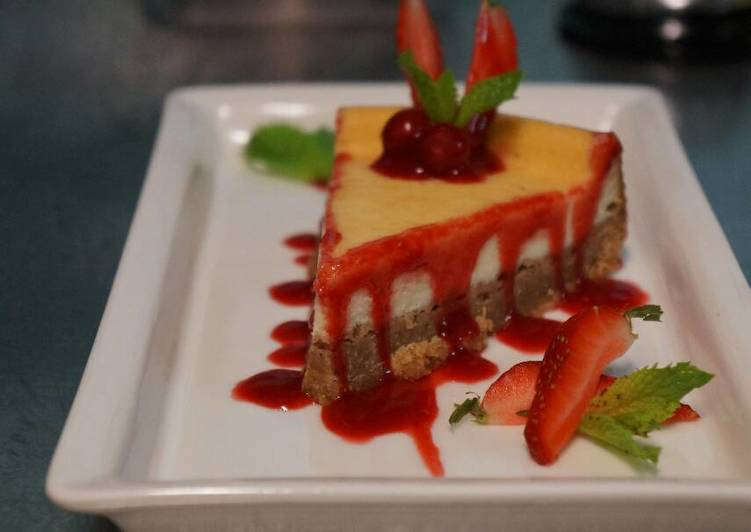 Simple Way to Make Perfect sour cream  cheesecake