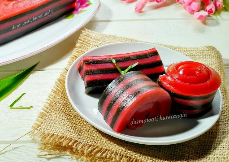 kue-lapis-tepung-tapioka-black-pink-termudah