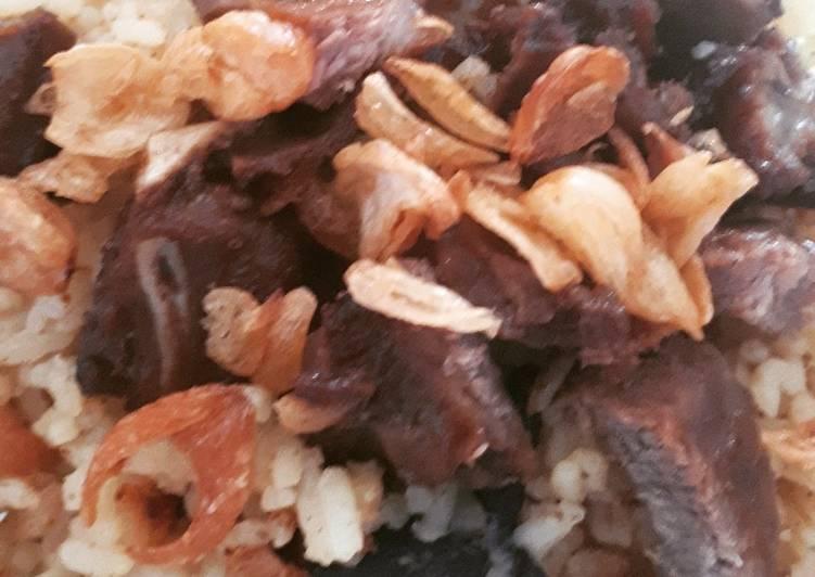 Nasi briyani ala rumahan (rice cooker)