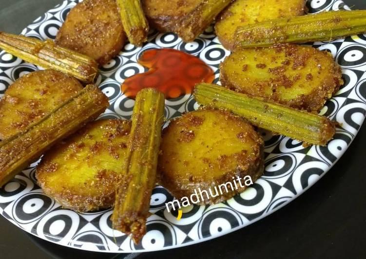 Drumsticks and Potato Masala Fry