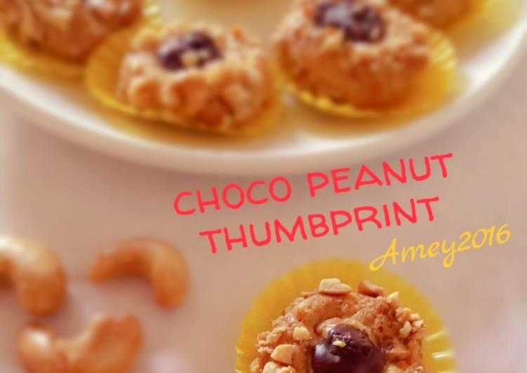 Choco peanut thumbprint resep tintin rayner