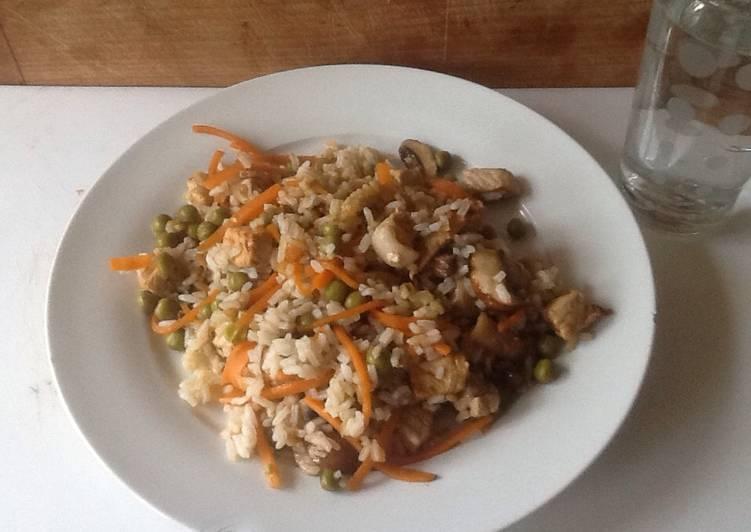 Recipe: Delicious Pork and Mushroom stir fry for one person