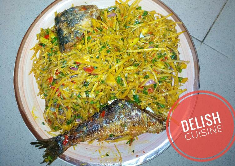 Old Fashioned Dinner Easy Quick African salad (Abacha)