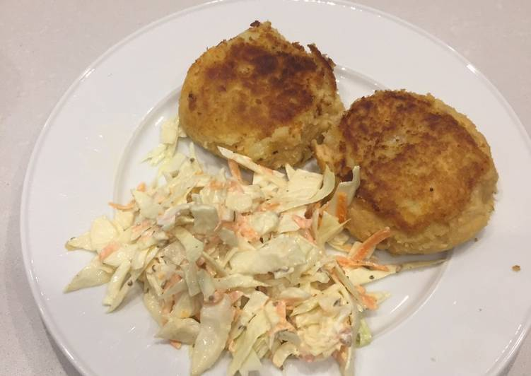 Steps to Make Any-night-of-the-week Fish cakes with salmon trout