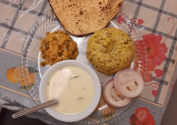 Simple And Light Gujarati dinner