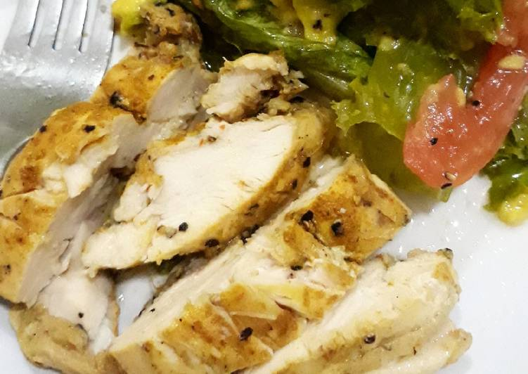 Resep Fillet Dada Ayam Panggang Bumbu Kari Menu Diet Bisa Manjain Lidah