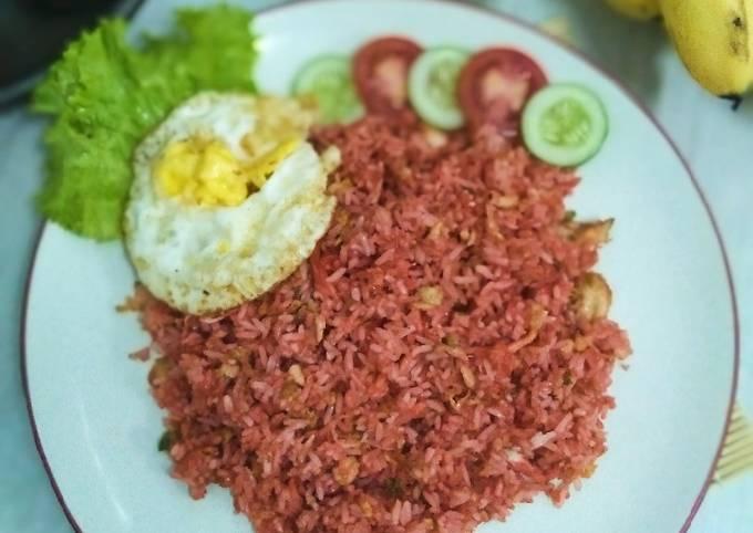 Nasi goreng merah khas Malang🍚
