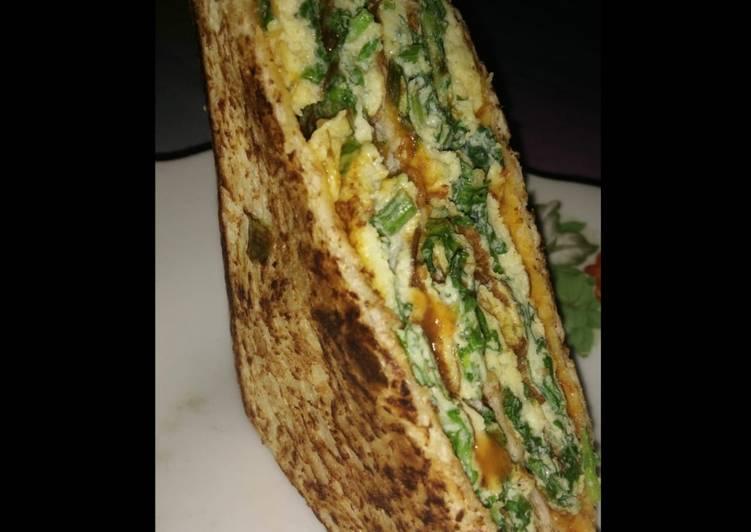 Resep Sandwich Bayam rendah kalori Paling Gampang