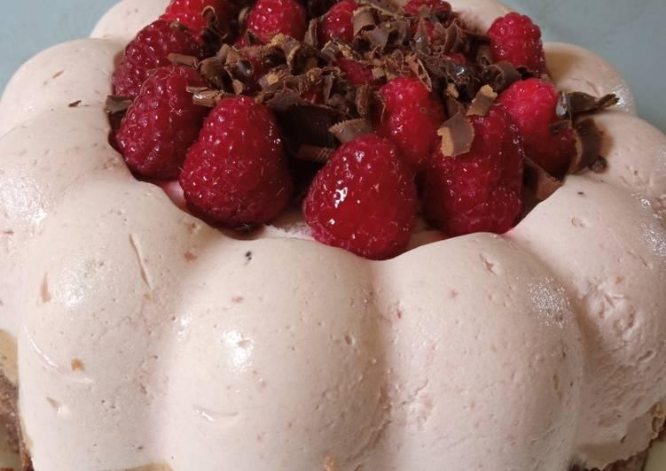 Dôme fraise chocolat