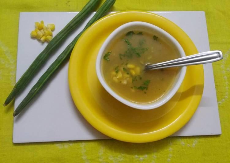 Corn drumstick soup