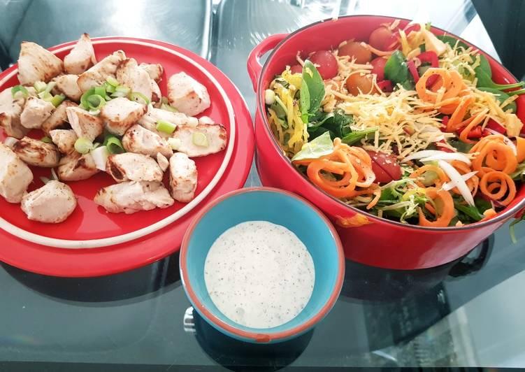 Chicken Tikka salad 💛