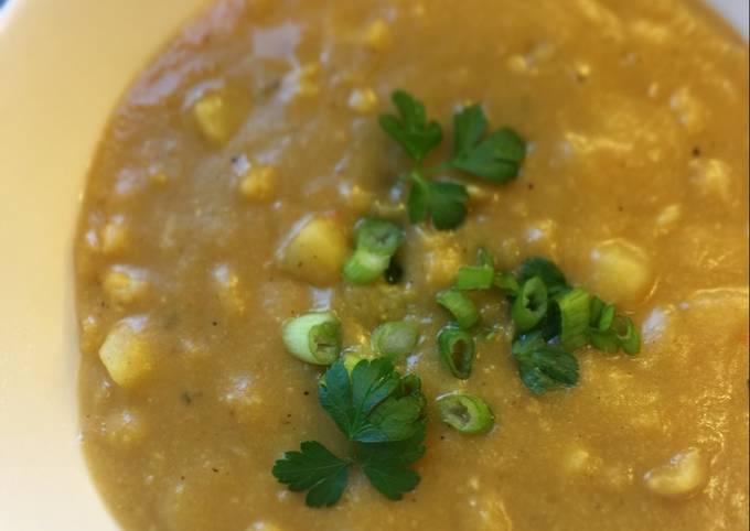 Recipe: Appetizing Yellow Split Pea-Sweet Potato Corn Chowder