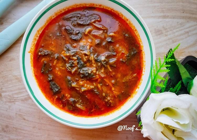 Ispanak çorbasi (Soup Bayam ala Turkish)