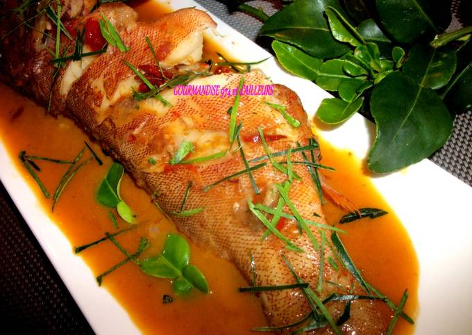 Poisson au Curry Rouge & Lait de Coco