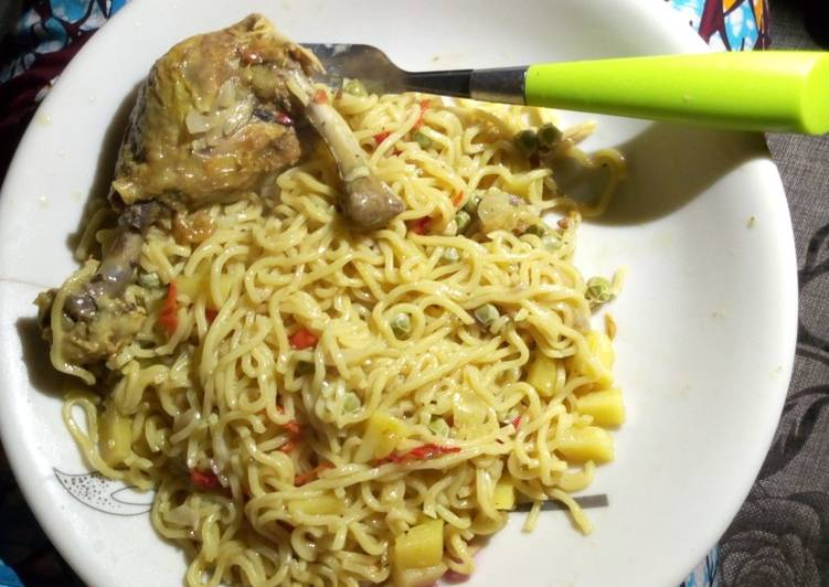 Recipe: Tasty Chicken noodles