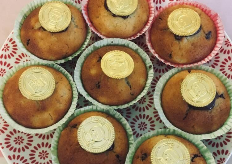 Muffins poires et pépites de chocolat