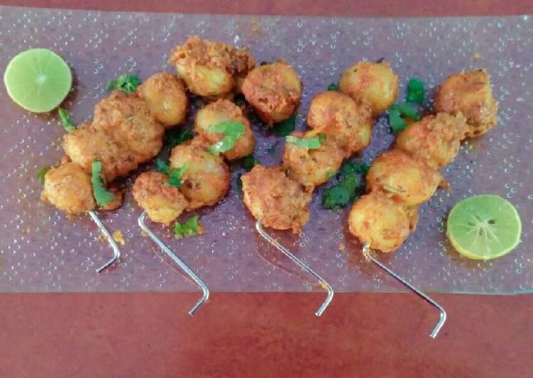 Tandoori baby potato