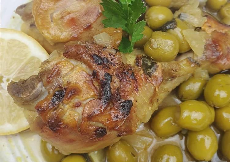 Tajine de poulet et olives