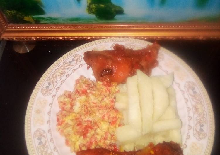 Steps to Prepare Ultimate Fried yam