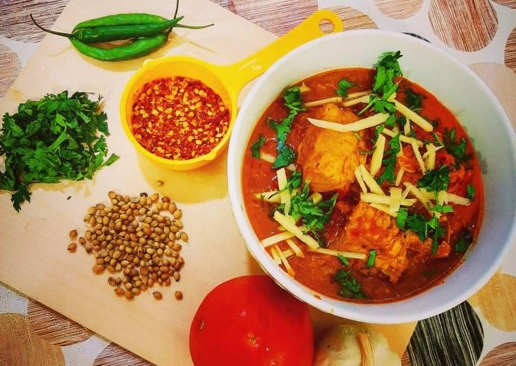 Recipe of Perfect Dhaba Koyla Karahi & Naans