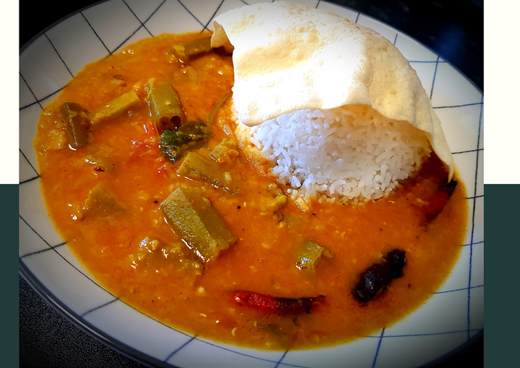 Okra sambar Finding Healthy Fast Food