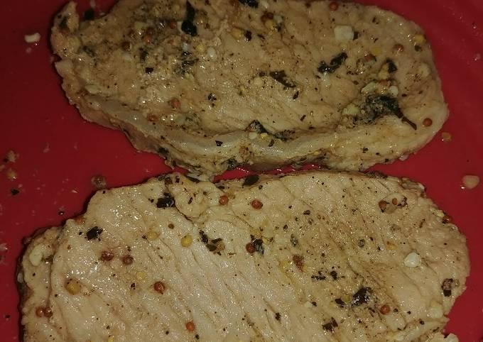 Garlic Honey-Dijon Pork Chops