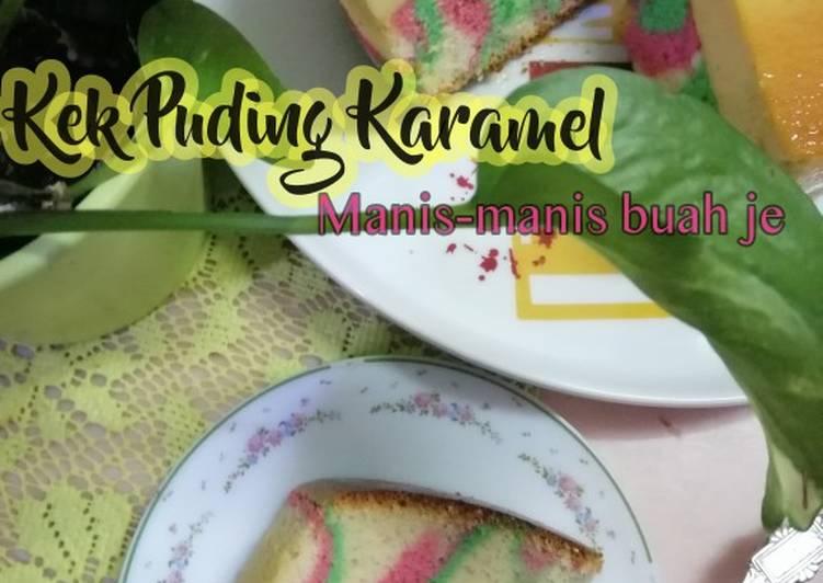 Kek Puding Karamel Pelangi - velavinkabakery.com