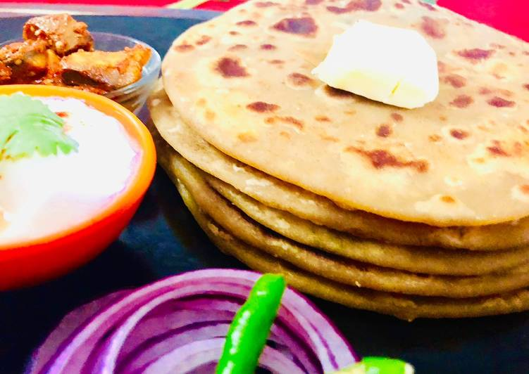 Simple Way to Prepare Homemade Aloo paratha