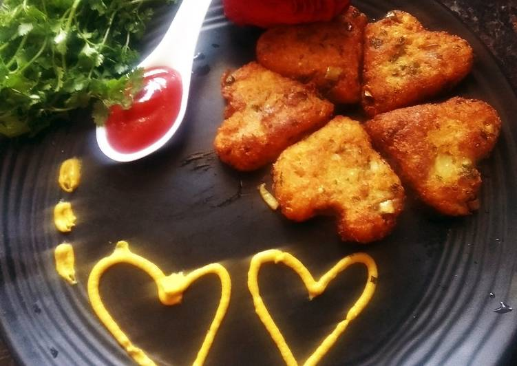 Easiest Way to Prepare Super Quick Homemade Bread pottao heart cutlet
