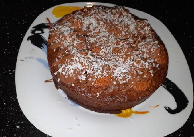 Gâteau au chocolat au lait et noix de coco