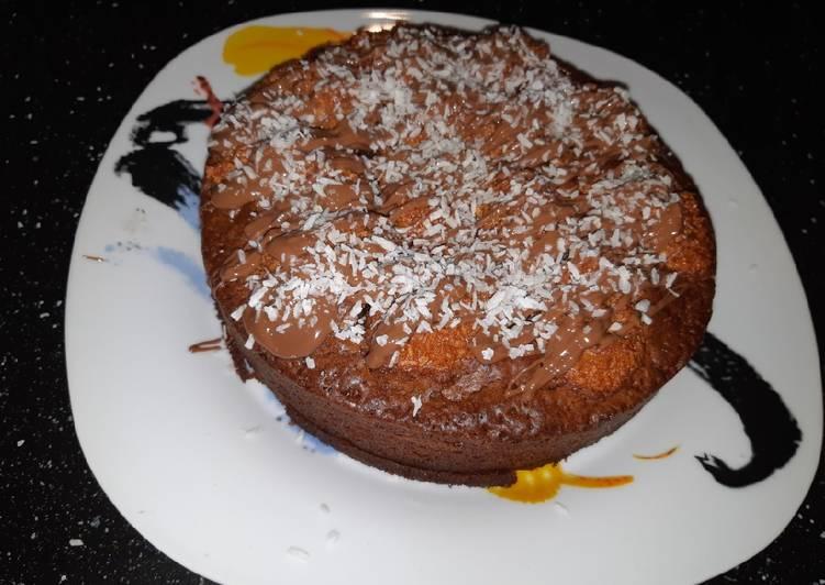 Simple  Gâteau au chocolat au lait et noix de coco