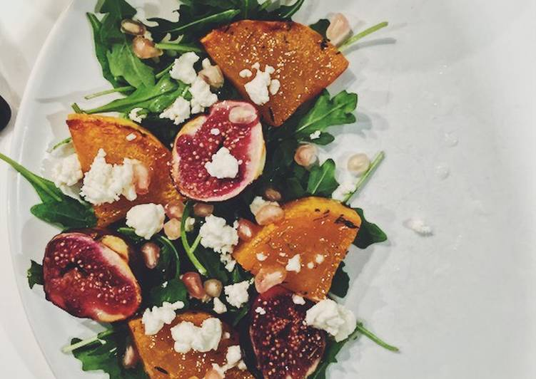 Recipe of Award-winning Roasted Fig, Butternut Squash & Feta Salad