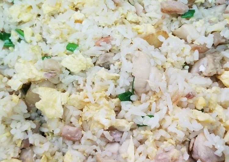 Chinese Salty Fish Chicken Fried Rice 咸魚雞粒炒飯