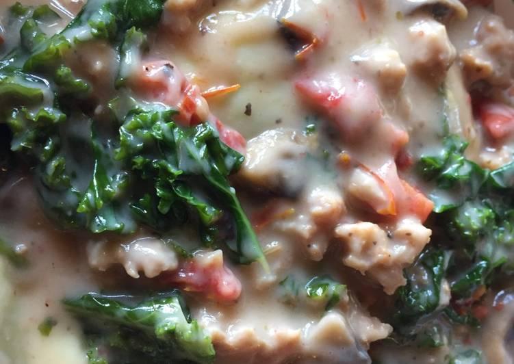 Creamy Italian sausage pasta sauce