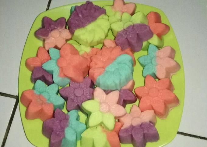 Bolu Bunga Rainbow Kukus