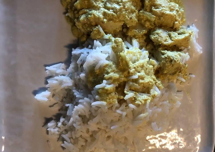 recette Poulet au curry et coco le délicieux