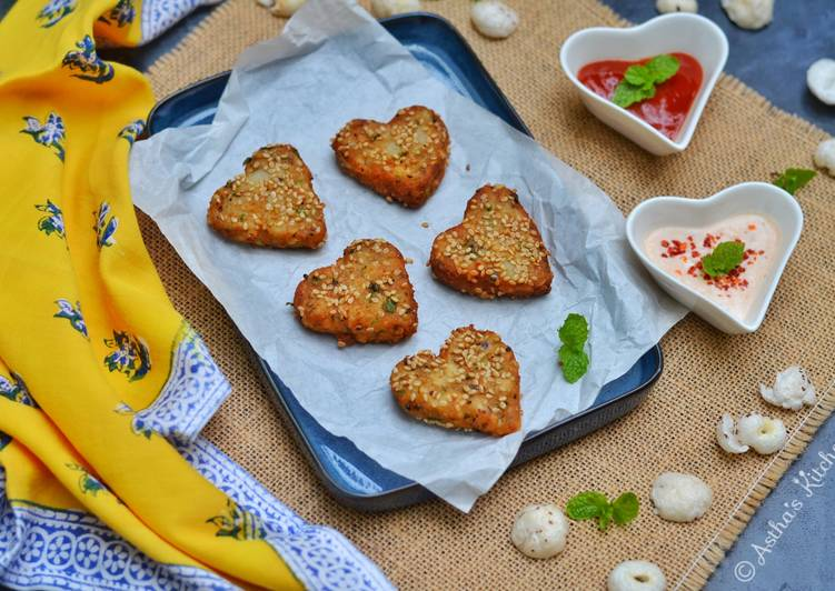 Makhana cutlets Lotus seeds hearts