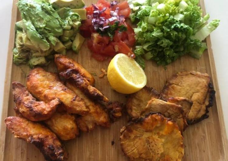Easiest Way to Prepare Yummy Buffallo Chicken Patacones