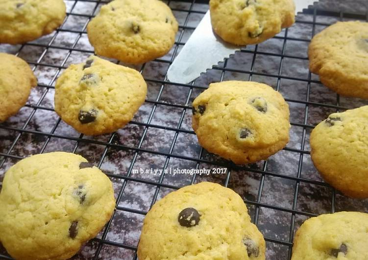 Choco Chip Cookies, Soft and Crunchy