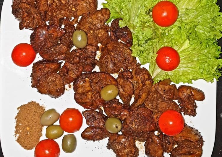 Recipe of Award-winning Fried kalejee (chicken liver)