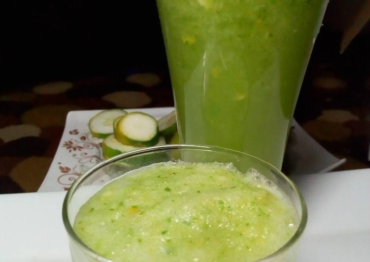 Easiest Way to Prepare Quick Refreshing Cucumber Smoothie