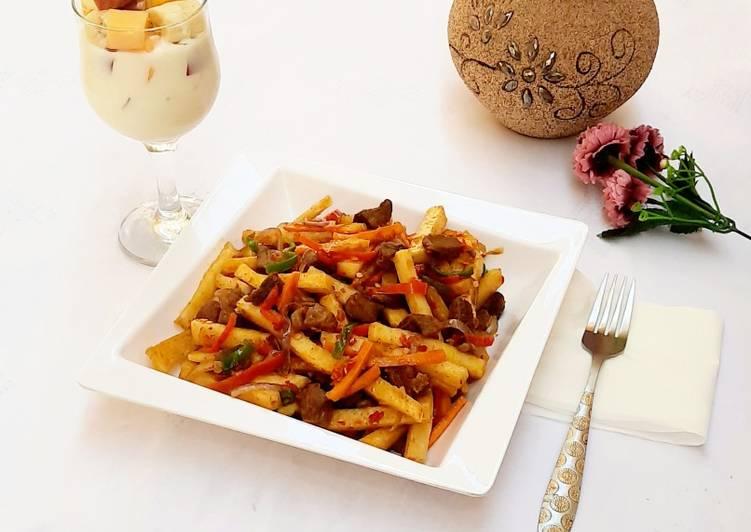 Fried veggies yam