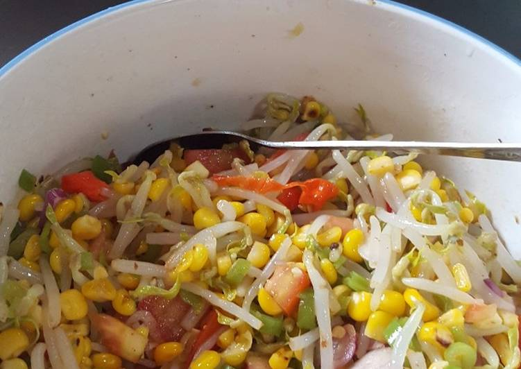 Resep Oseng jagung,batang pepaya dan tauge Yang Gampang Pasti Nagih