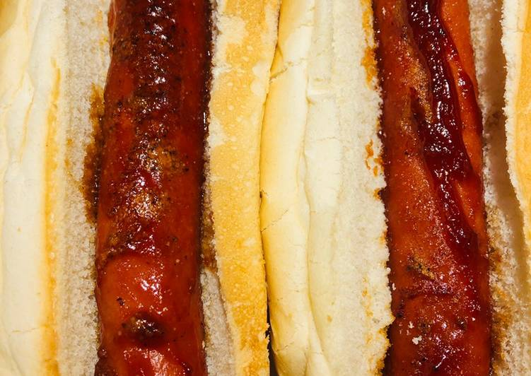 Recipe of Quick Baked BBQ Pretty 🤩 Hot Dogs 🌭