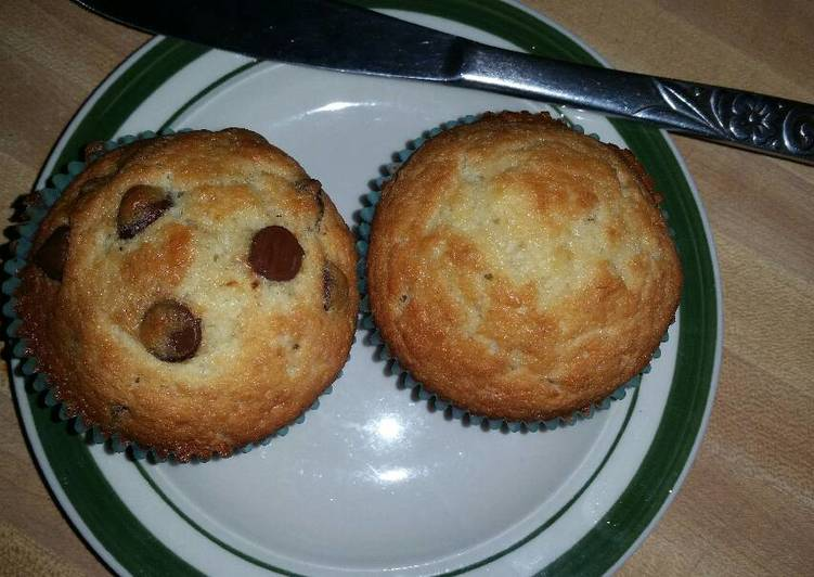 Banana muffins with coconut oil