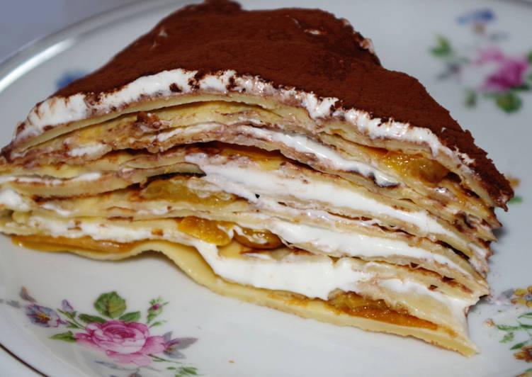 Le moyen le plus simple de Préparer Délicieuse Gâteau de crêpes aux mirabelles
