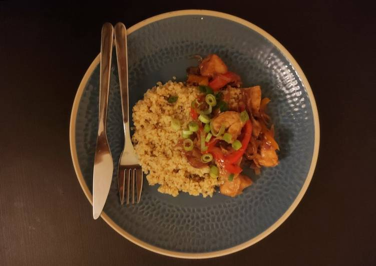 Simple Way to Prepare Quick Sweet Chicken with Bulgur Wheat