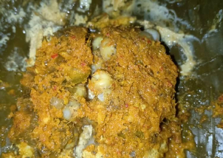 Pepes telur ikan manyung